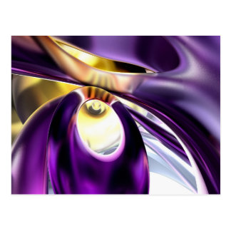 Passionate Orchid Abstract Postcard