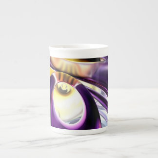 Passionate Orchid Abstract Tea Cup