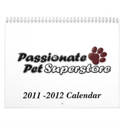 Passionate Pet Calendar 2011-2012