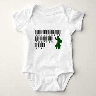 Passionate Prepper Girl Baby Bodysuit