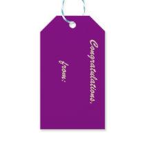 Passionate Purple Congratulations Gift Tag