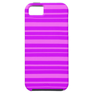 Passionate Purple & Shocking Pink Stripes Pattern iPhone 5 Cases