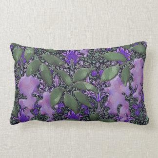 Passionate Purple Wisteria Jungle Throw Pillow