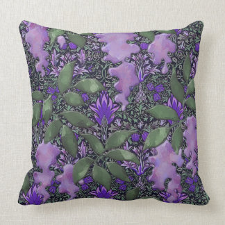 Passionate Purple Wisteria Jungle Throw Pillow