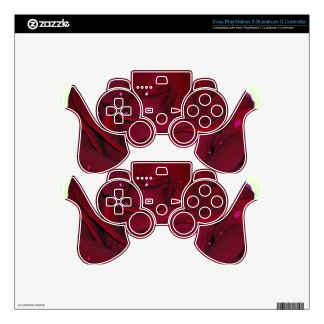 Passionate Red Rose Decal For PS3 Controller