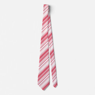 Passionate Red Varied Stripes Geometric Pattern Tie