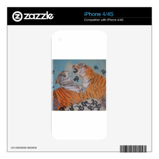 Passionate Tigers Decal For The iPhone 4S