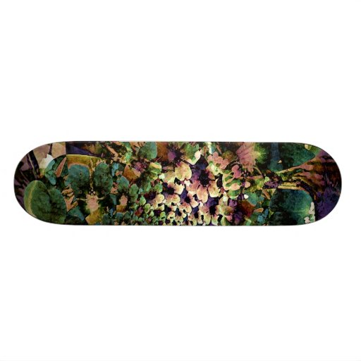 Passionately Floral Skateboard