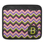 Passionately Lime Chevrons Monogram Sleeves For iPads