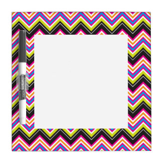 Passionately Lime & Pink Chevrons Dry Erase Whiteboards