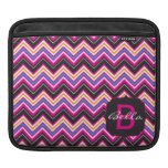 Passionately Pink Chevrons Monogram Sleeves For iPads