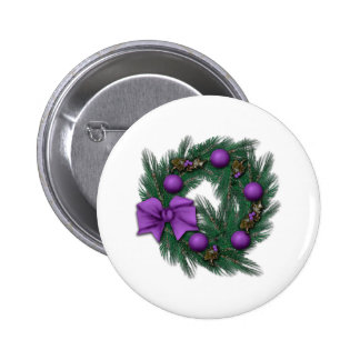 Passionatly Purple Christmas 2 Inch Round Button