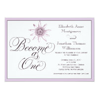 Passionflower Become as One Wedding Invitation