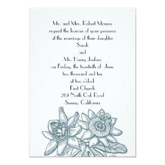 passionflower-trullo #1 determinado invitación 12,7 x 17,8 cm