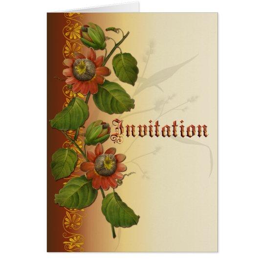 Passionflower Wedding Rust Card