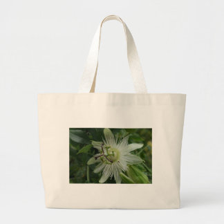 Passionflower white bag