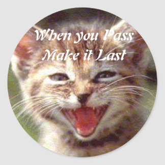 Pass'n'Last Sticker