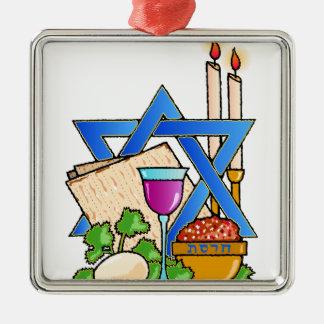 passover adorno navideño cuadrado de metal