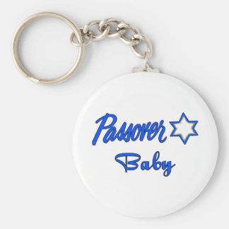 Passover Baby Blue Basic Round Button Keychain