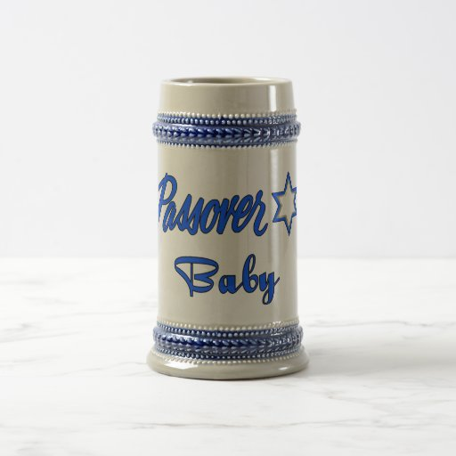 Passover Baby Blue Beer Stein