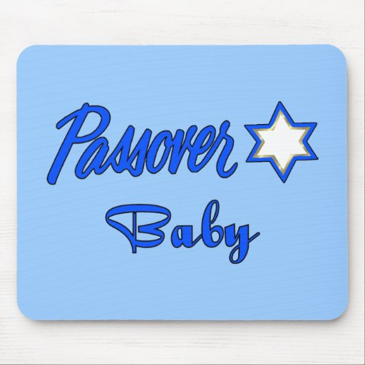 Passover Baby Blue Mouse Pad