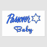 Passover Baby Blue Rectangular Stickers