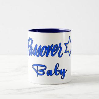 Passover Baby Blue Two-Tone Coffee Mug