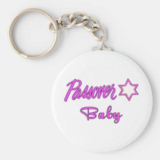 Passover Baby Girl Basic Round Button Keychain