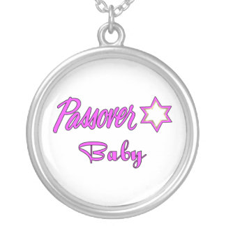 Passover Baby Girl Round Pendant Necklace