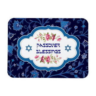 Passover Blessings. Shalom at Pesach Gift Magnets