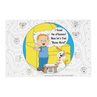 Passover Boy Placemat 2 sided Personalize