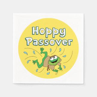 "Passover Cocktail Napkins ""Hoppy Passover"""