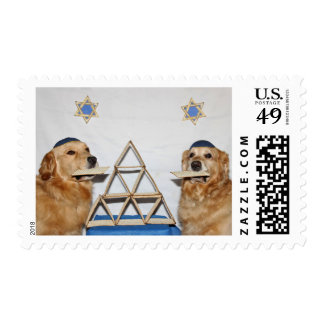 Passover de la diversión del Matzo del golden Sello Postal