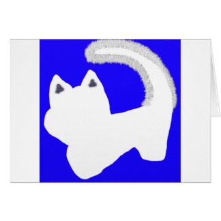 Passover Defiant Cat Pesach greeting card