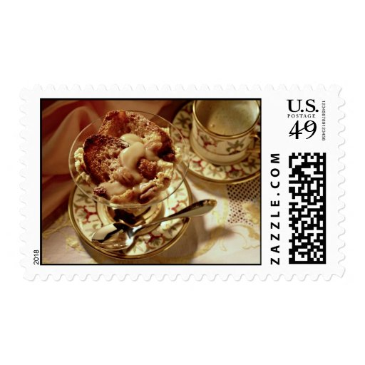Passover dessert served in a glass bowl stamp