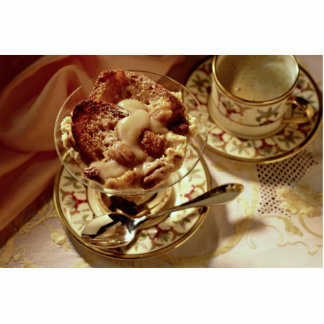 Passover dessert served in a glass bowl standing photo sculpture