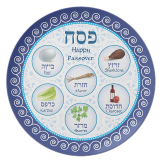 Passover Doily Seder Party Plate