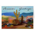 Passover en la tarjeta del desierto