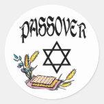 Passover Etiquetas Redondas