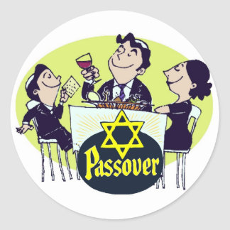 Passover Family Dinner Classic Round Sticker