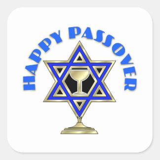 Passover feliz colcomanias cuadradas