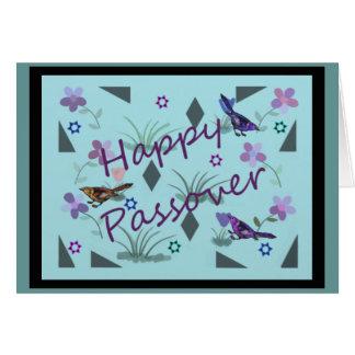 Passover feliz del jardín de la naturaleza tarjeta pequeña