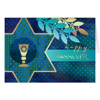 Passover feliz. Estrella de la tarjeta de David y