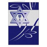 Passover feliz. Estrella de las tarjetas de David