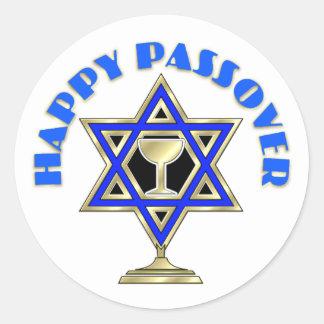Passover feliz etiquetas redondas
