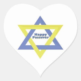 Passover feliz pegatinas de corazon