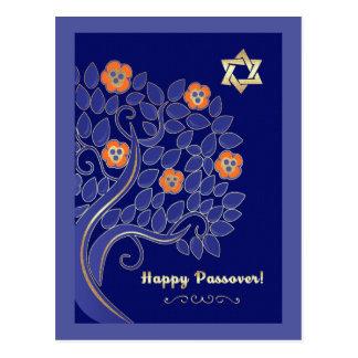 Passover feliz. Postales del árbol floreciente de