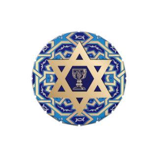 Passover feliz. Shalom en el caramelo de Pesach Frascos De Dulces