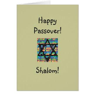 ¡Passover feliz! - Shalom-Estrella de David Tarjeta De Felicitación
