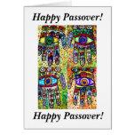 Passover feliz - tarjeta de Judaica Hamsas del bat